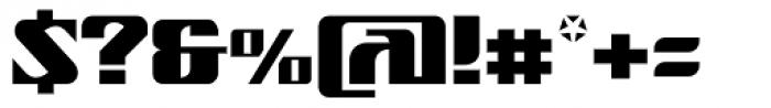 Nantua Flava XL Font OTHER CHARS