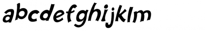 Nanumunga Oblique Font LOWERCASE