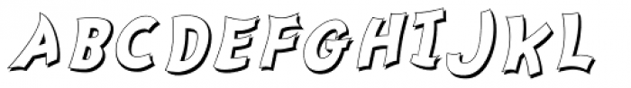 Nanumunga Shadow Bold Oblique Font UPPERCASE