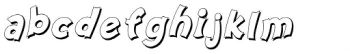 Nanumunga Shadow Bold Oblique Font LOWERCASE