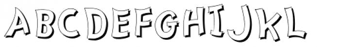 Nanumunga Shadow Font UPPERCASE