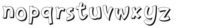 Nanumunga Shadow Font LOWERCASE