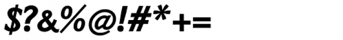 Napoleone Slab Black Italic Font OTHER CHARS
