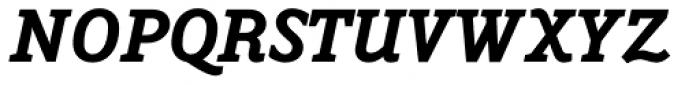 Napoleone Slab Black Italic Font UPPERCASE