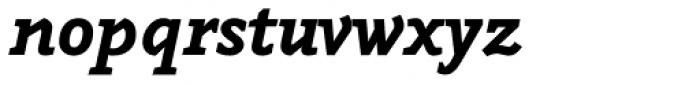 Napoleone Slab Black Italic Font LOWERCASE