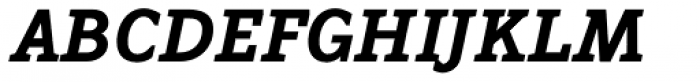 Napoleone Slab Std Black Italic Font UPPERCASE