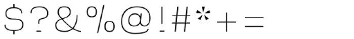 Naranja Thin Font OTHER CHARS