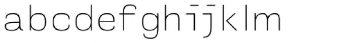 Naranja Thin Font LOWERCASE
