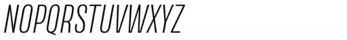 Naratif Condensed Extra Light Italic Font UPPERCASE