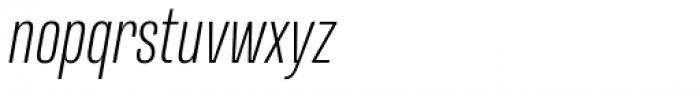 Naratif Condensed Extra Light Italic Font LOWERCASE