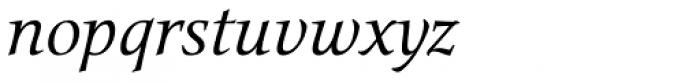 Narration Italic Font LOWERCASE