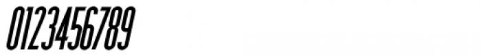Narrow Deco JNL Oblique Font OTHER CHARS