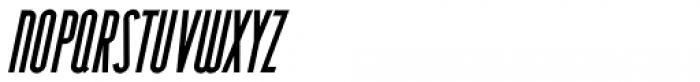 Narrow Deco JNL Oblique Font UPPERCASE
