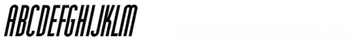 Narrow Deco JNL Oblique Font LOWERCASE