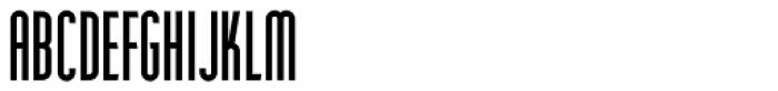 Narrow Deco JNL Regular Font UPPERCASE