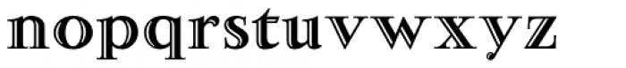 Narzis Font LOWERCASE