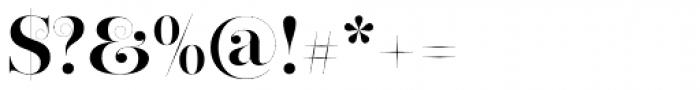 Narziss Bold Swirls Font OTHER CHARS
