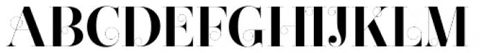 Narziss Bold Swirls Font UPPERCASE