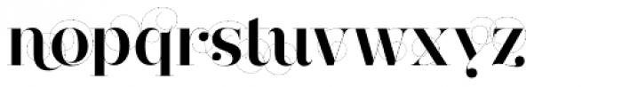 Narziss Bold Swirls Font LOWERCASE