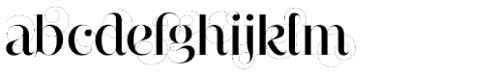 Narziss Medium Swirls Font LOWERCASE