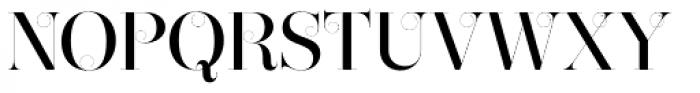 Narziss Pro Cy Medium Swirls Font UPPERCASE