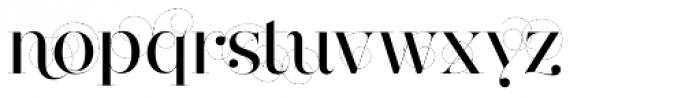 Narziss Pro Cy Medium Swirls Font LOWERCASE