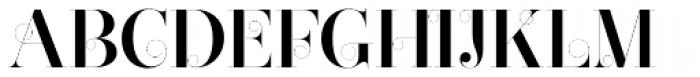 Narziss Pro Cy SemiBold Swirls Font UPPERCASE