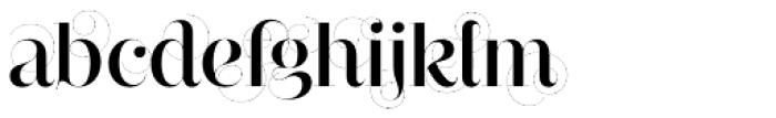 Narziss Pro Cy SemiBold Swirls Font LOWERCASE