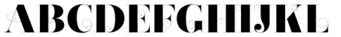 Narziss Pro Cy UltraBold Swirls Font UPPERCASE