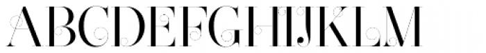 Narziss Swirls Font UPPERCASE