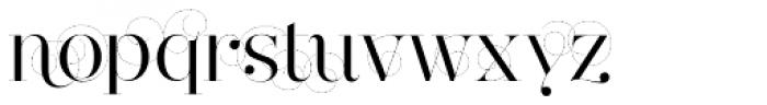 Narziss Swirls Font LOWERCASE