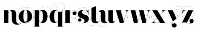Narziss Ultrabold Swirls Font LOWERCASE