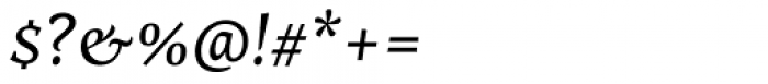 Nassim Latin Italic Font OTHER CHARS