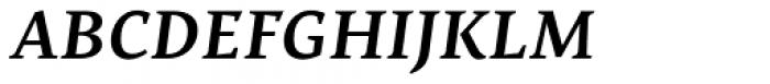 Nassim Latin SemiBold Italic Font UPPERCASE