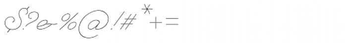 Natalya Monoline Thin Font OTHER CHARS