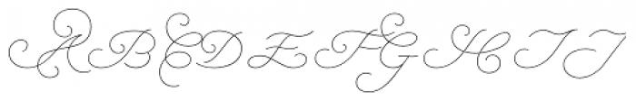 Natalya Monoline Thin Font UPPERCASE