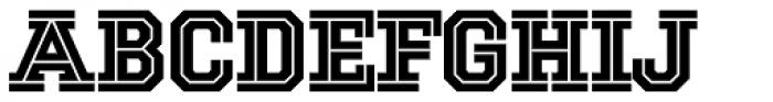 National Champion Cut Font UPPERCASE