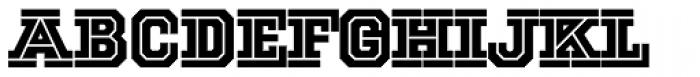 National Champion Cut Font LOWERCASE