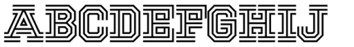 National Champion Tri Medium Font UPPERCASE