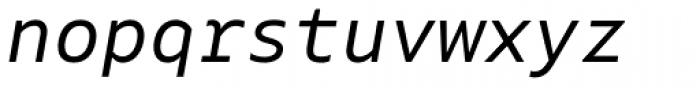 Native Italic Font LOWERCASE