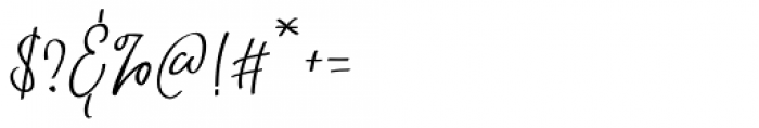Natthalie Signature Regular Font OTHER CHARS