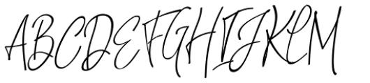 Natthalie Signature Regular Font UPPERCASE