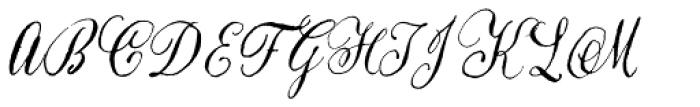 Natura Slanted Font UPPERCASE