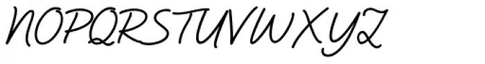 Natural Script Font UPPERCASE
