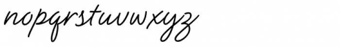 Natural Script Font LOWERCASE