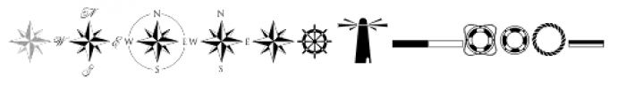 Nautica Icons And Knots Font LOWERCASE