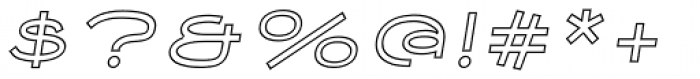 Nautis Outline Italic Font OTHER CHARS