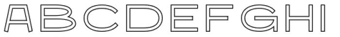 Nautis Outline Font LOWERCASE