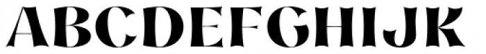 Nazare Exuberant Extra Bold Font UPPERCASE