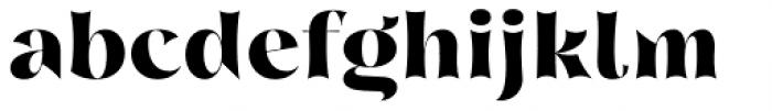 Nazare Exuberant Extra Bold Font LOWERCASE